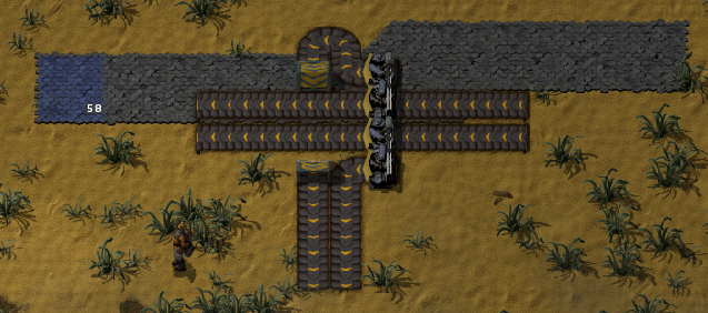 Running while placing e.g. brick is ok for creating a straight line, but perpendicular belts will take you off course.