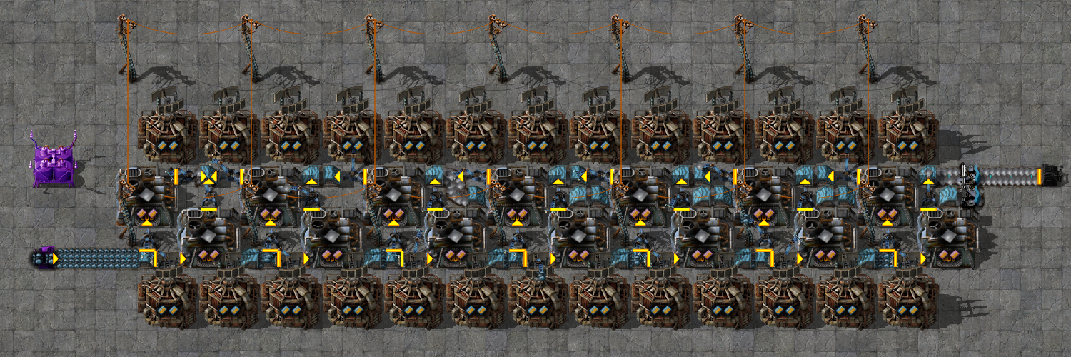 Compact smelting (perfect compression)
