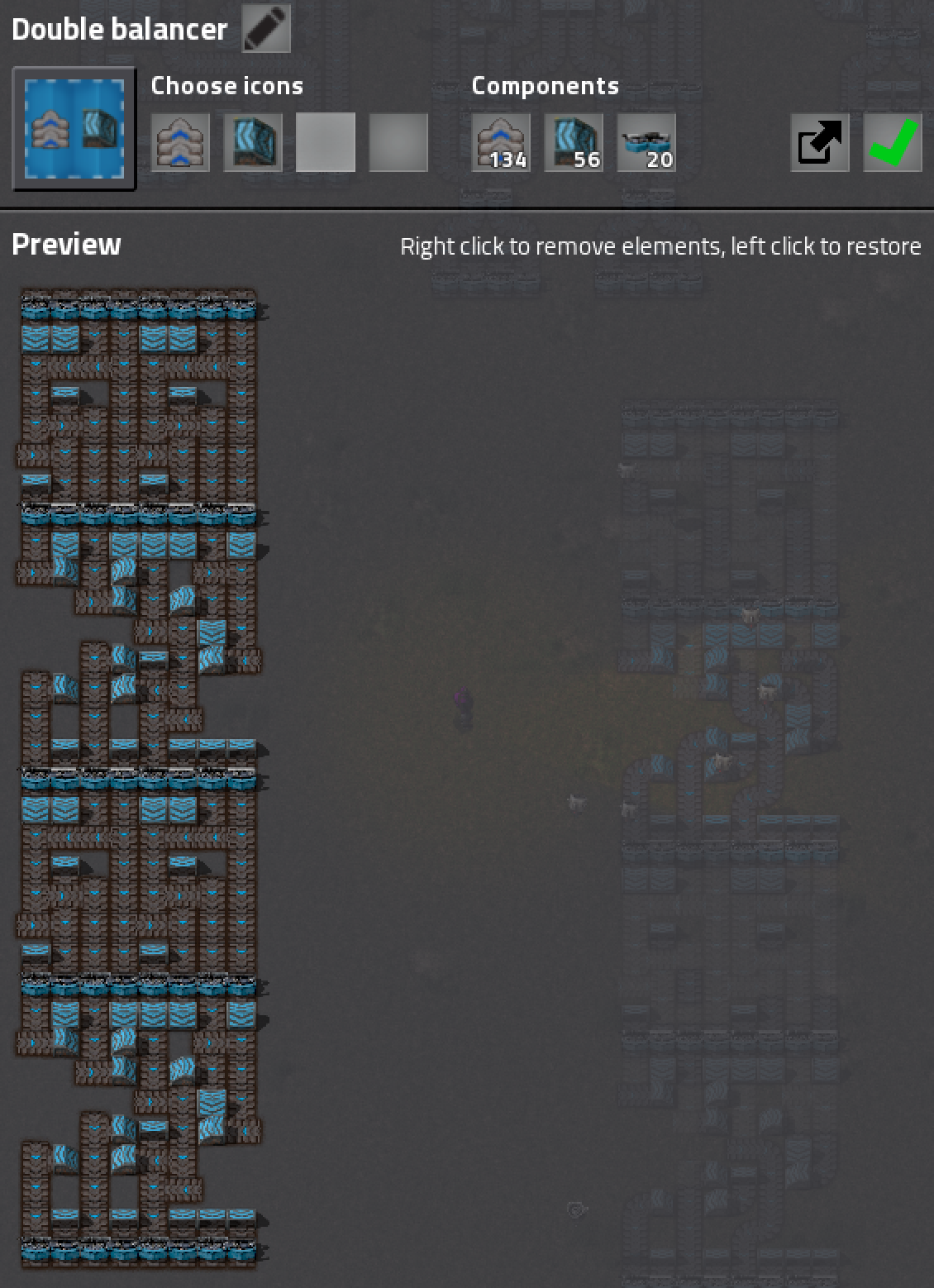 My own 8-lane doubled balancer
