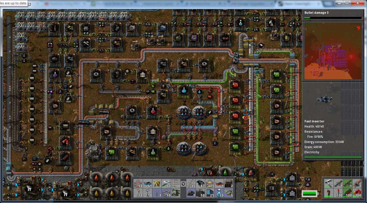 Here is some of my factory   not super efficient